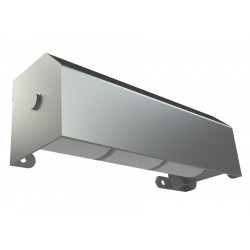 Shrouded Stainless Toilet Paper Dispenser - Three Roll