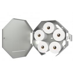 Vandal Resistant Jumbo Roll Dispenser with Five Standard Toilet Paper Roll Option (VSP-JRDx5)