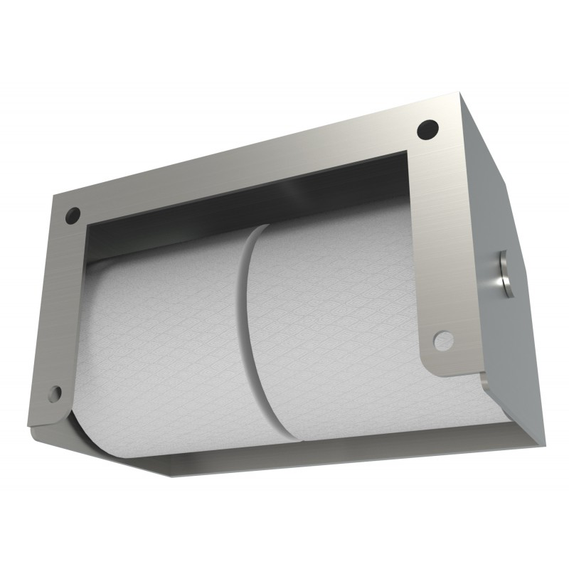 Heavy Duty Two Roll Shrouded Stainless Commercial Toilet