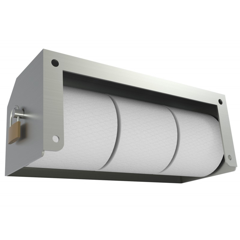 Heavy Duty Three Roll Shrouded Stainless Commercial Toilet Paper ...