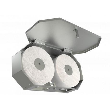 Vandal Resistant High Capacity Mini Jumbo 2 Roll Toilet Paper Holder