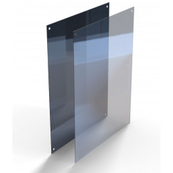Polished Stainless Steel Mirror with Sacrificial Plexi Glass