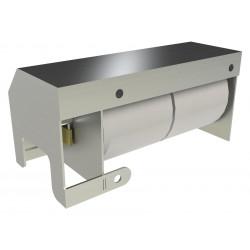 Shrouded Stainless Toilet Paper Dispenser - Two Roll