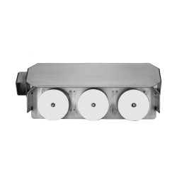 Vandal Resistant Three Roll Horizontal Toilet Paper with Full Shroud