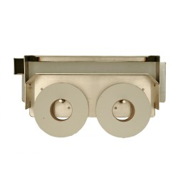 Vandal Resistant Two Roll Mini Jumbo Toilet Paper Holder