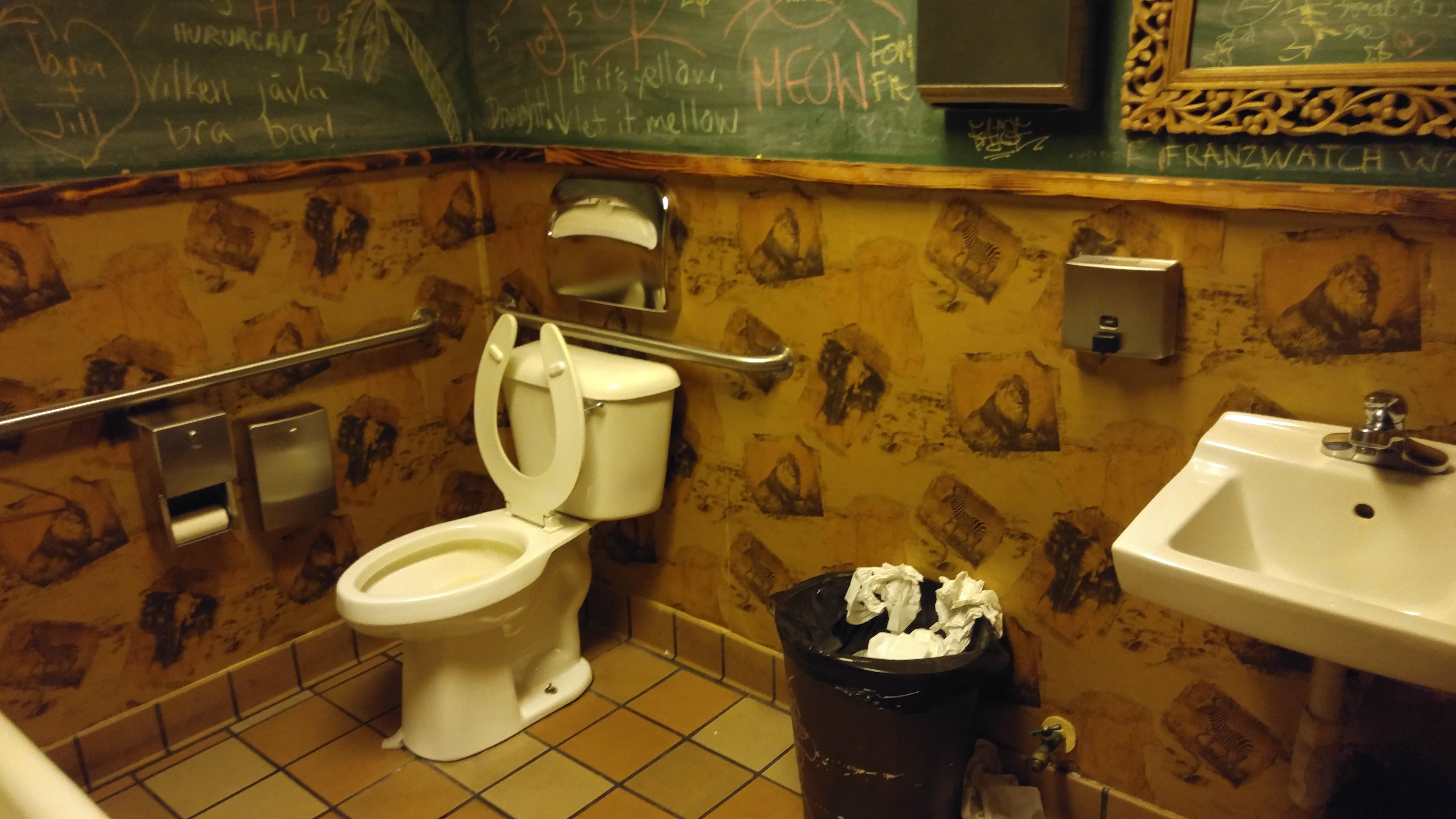 Longitude bar restaurant oakland california bathroom