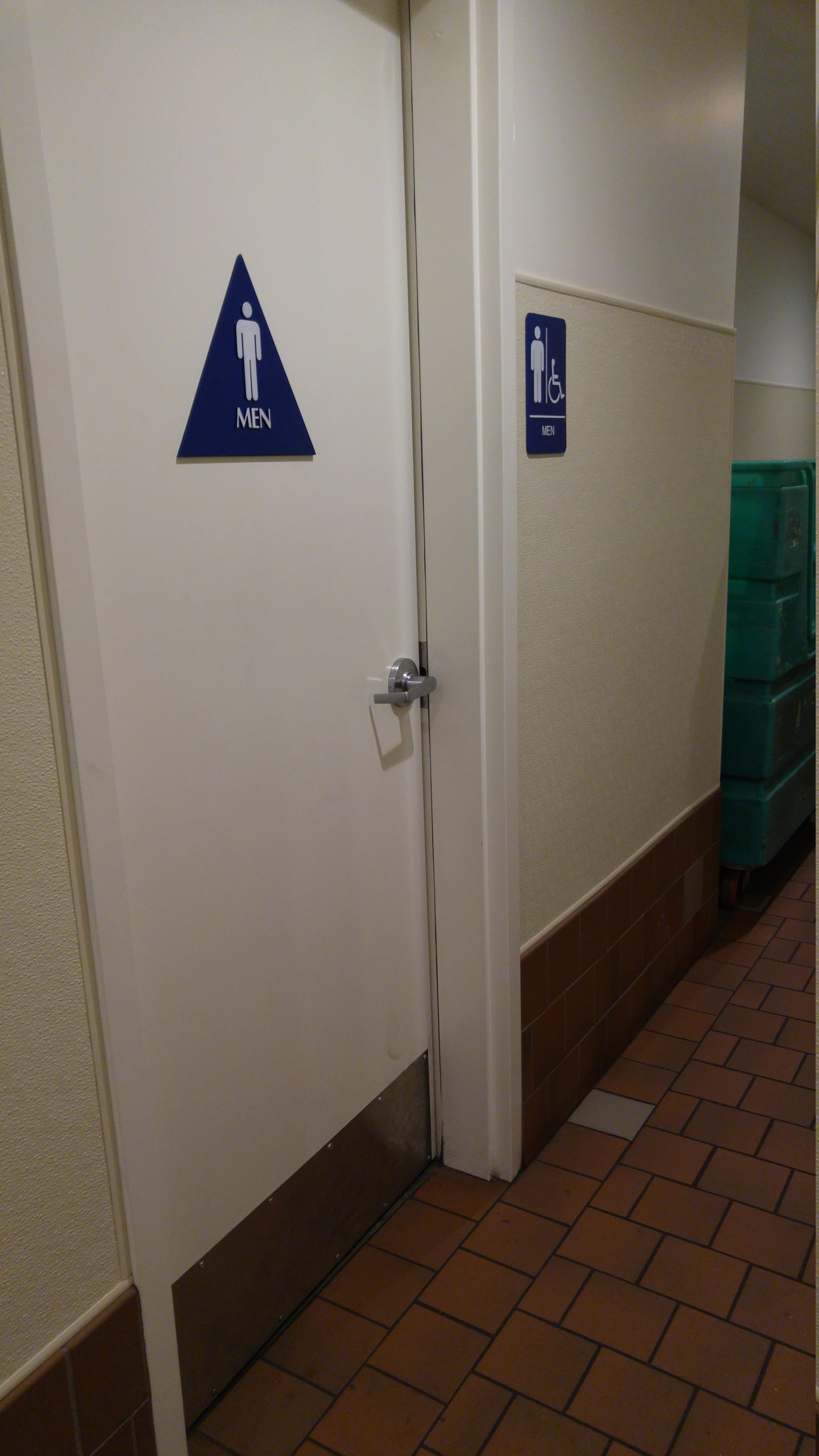 Bathroom Signs California springs brewery, fairfax, california - bathroom review